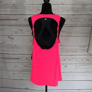 Ideology Open Back Essential Pink Tank Top NWT